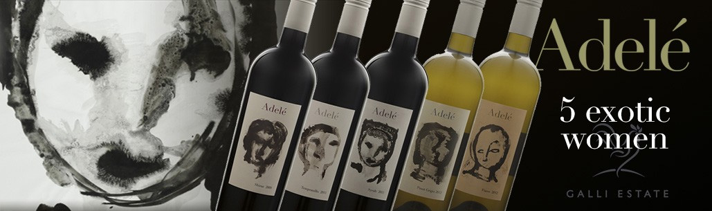 Wash Series - now displayed on the Adele wine labels from Galli Estate